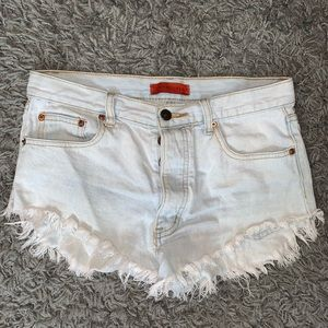 Signature8 Light Wash Denim Shorts